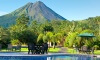 Arenal volcano, view from Volcano Lodge and Gardens